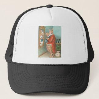 Vintage Pig Shamrock St Patrick's Day Card Trucker Hat