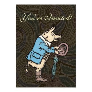 Vintage Pig Wearing Jacket Card