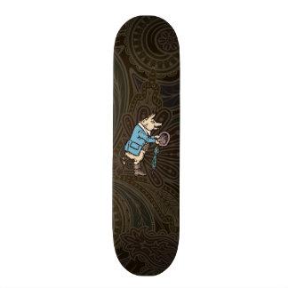 Vintage Pig Wearing Jacket Skateboard Deck