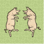 Vintage Pigs Dancing Acrylic Cut Out