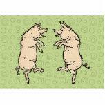 Vintage Pigs Dancing Photo Cutout