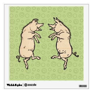 Vintage Pigs Dancing Wall Decor