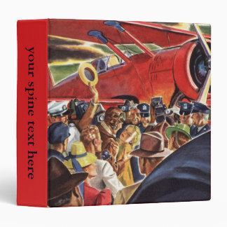 Vintage Pilot, Woman and Airplane with Paparazzi Binder