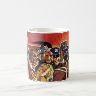 Vintage Pilot, Woman and Airplane with Paparazzi Coffee Mug