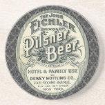Vintage Pilsner Beer Ad Label Beverage Coasters