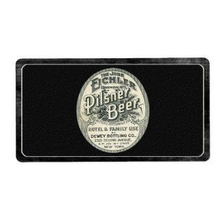 Vintage Pilsner Beer Label in Black and White