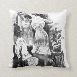 vintage pin up beauty antique  cushion pillows