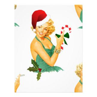 vintage pin up christmas letterhead