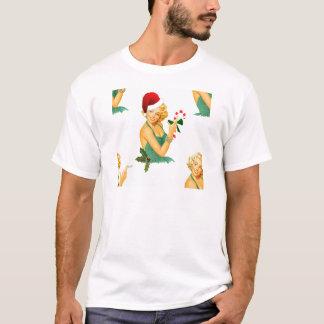 vintage pin up christmas T-Shirt