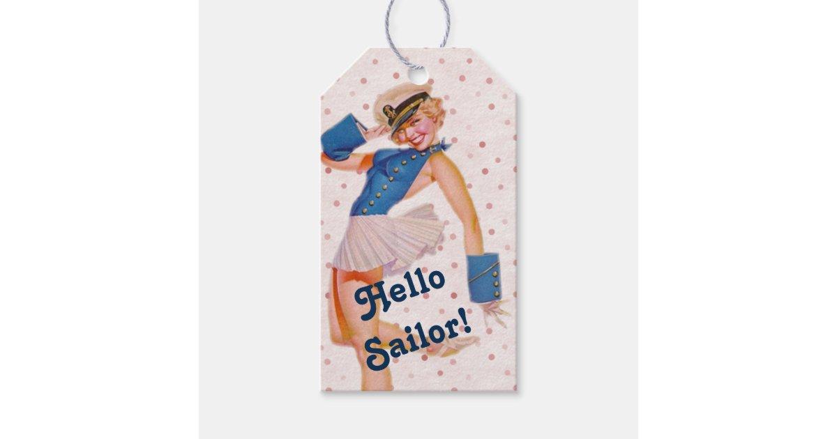 e946b0e90 Vintage Pin Up Girl Gift Tags