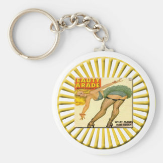 Vintage Pin Up Girl Keychain