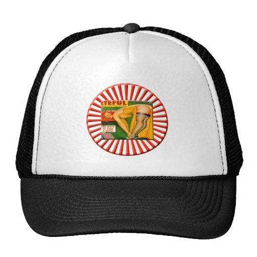 Vintage Pin Up Girl Mesh Hat