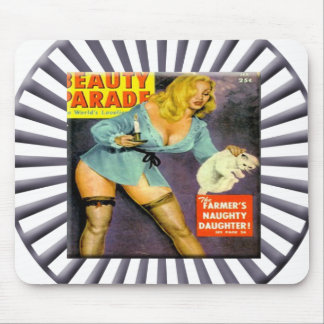 Vintage Pin Up Girl Mouse Pad