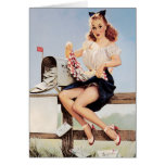 Vintage Pin Up Girl on Phone Card