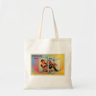 Vintage Pin Up Girl Postcard Showgirl Tote Bag