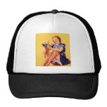 Vintage Pin Up Girl Tees and Sweats - Customize Trucker Hat