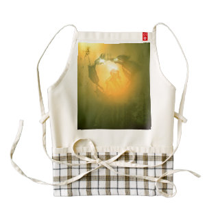 Vintage, pin up girl zazzle HEART apron