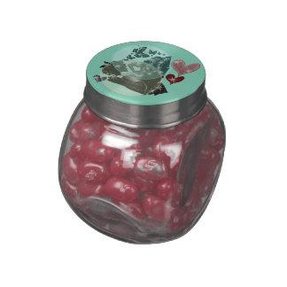 Vintage Pin-Up Jelly Bellys Designer Sweet Tin Glass Jars