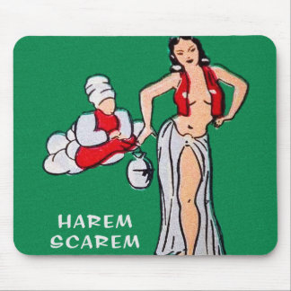 Vintage Pin up Pinup Girl Cartoon Harem Scarem Mouse Pad