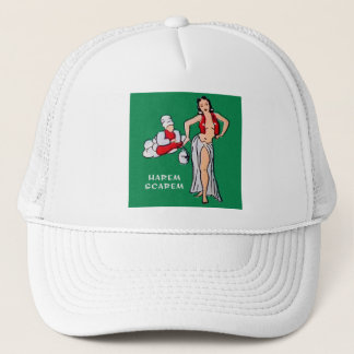 Vintage Pin up Pinup Girl Cartoon Harem Scarem Trucker Hat