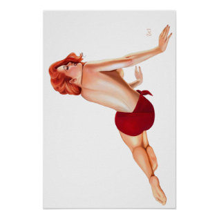 Vintage Pin Up - Poster at Zazzle