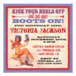 Vintage Pin up Rockabilly Cowgirl Party Invitations