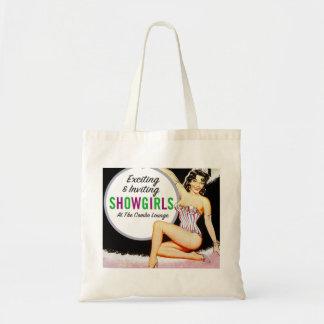 Vintage Pin Up Show Girls Showgirls Advertisment Tote Bag