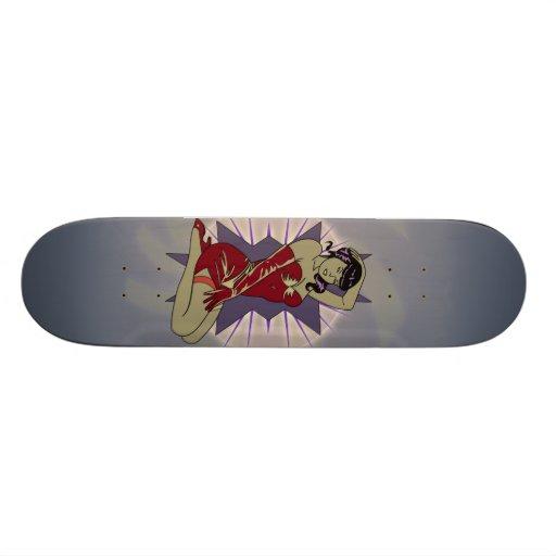 Vintage Pin-Up Woman Skateboard