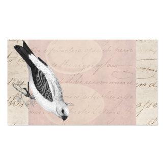 Vintage Pine Grossbeak Song Bird Illustration Double-Sided Standard Business Cards (Pack Of 100)
