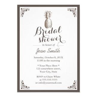 Vintage Pineapple Bridal Shower Card