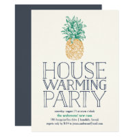 Vintage Pineapple Housewarming Party Invitation