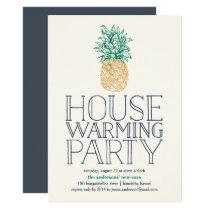 Vintage Pineapple Housewarming Party Invitation