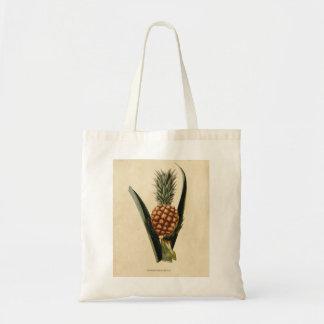 Vintage Pineapple Illustration Tote Bag