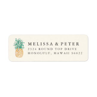 Vintage Pineapple Ivory Label