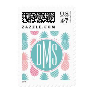 Vintage Pineapple Pattern | Monogram Stamp