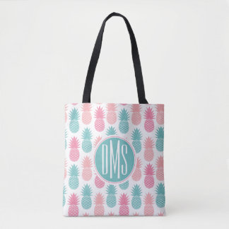 Vintage Pineapple Pattern | Monogram Tote Bag