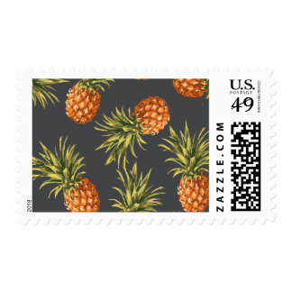 Vintage Pineapple Postage Stamps