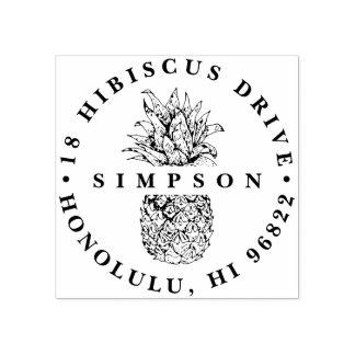 Vintage Pineapple Return Address Rubber Stamp