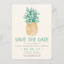 Vintage Pineapple Save the Date