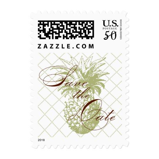 Vintage Pineapple Save the Date Postage