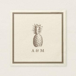 Vintage Pineapple Wedding Napkin