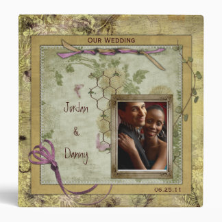Vintage Pink and Gold Wedding Album Binder