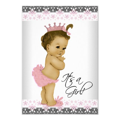 Popular 25 Vintage Pink And Gray Baby Girl Shower Cards Popular
