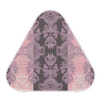 Vintage Pink and Gray Damask Speaker