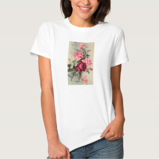 Vintage Pink and Red Roses Shirt