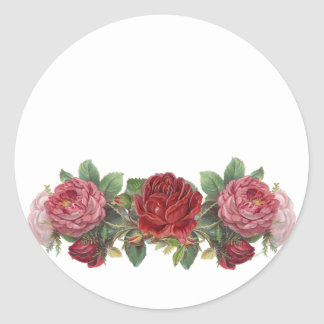 Vintage Pink and Red Roses Stickers