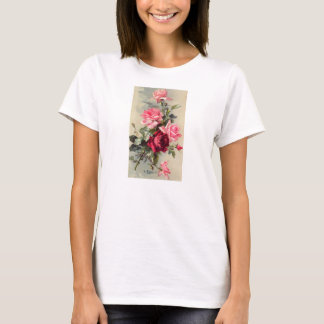 Vintage Pink and Red Roses T-Shirt