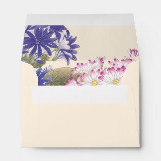 Vintage Pink and White Floral Envelopes