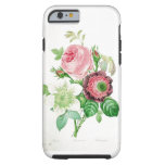 Vintage pink and white flowers iPhone 6 case