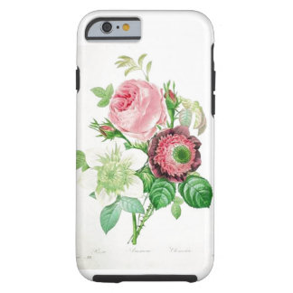 Vintage pink and white flowers tough iPhone 6 case